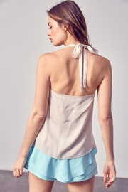 Do & Be Drape-Front Halter Top - Side cropped