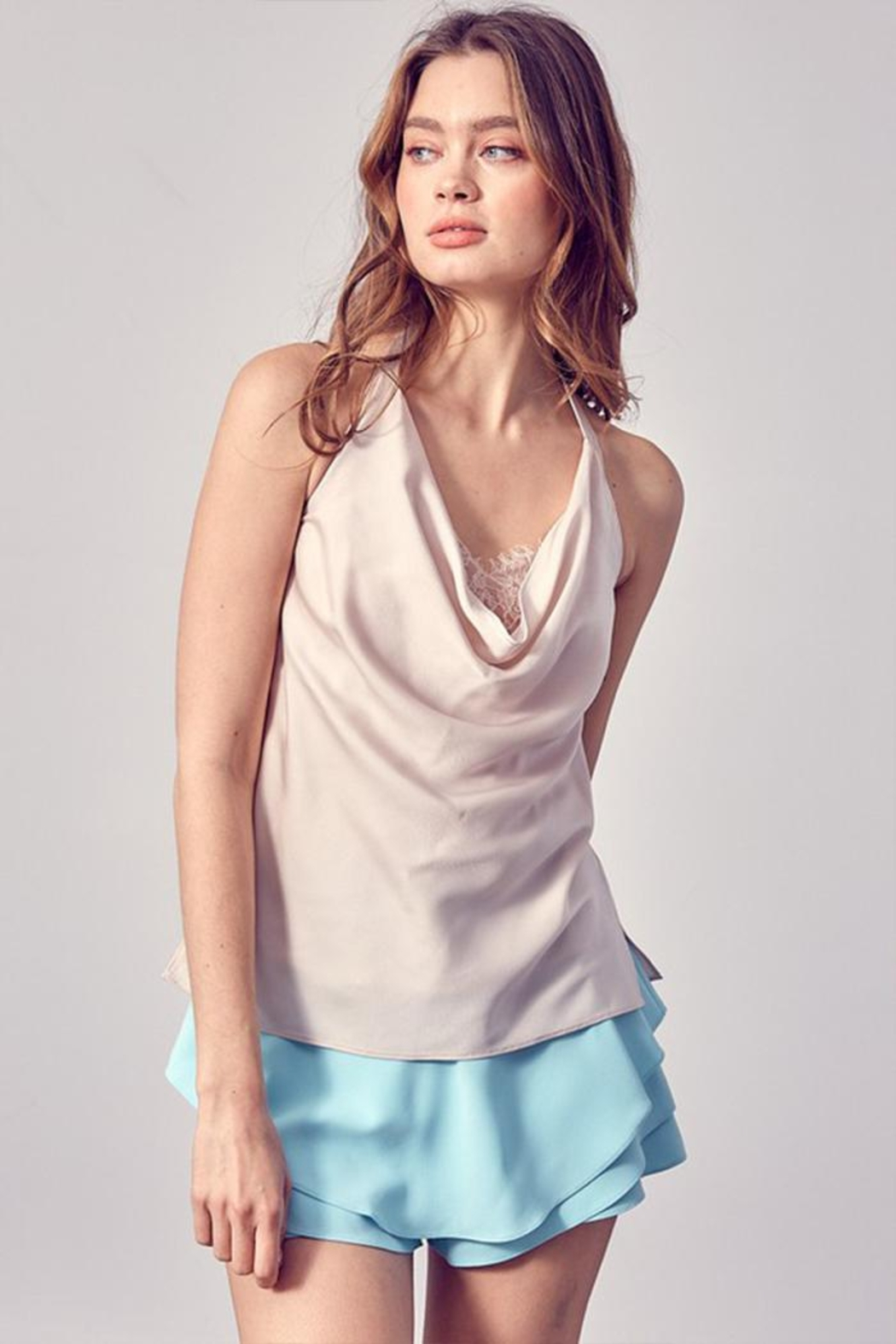 Do & Be Drape-Front Halter Top - Main Image