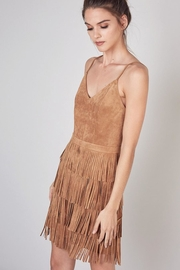Do & Be Dress With Cut Fringe Skirt - Back cropped