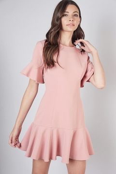 Shoptiques Product: Dress With Ruffle Hem And Bell Sleeves