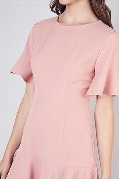 Do & Be Dress With Ruffle Hem And Bell Sleeves - Alternate List Image