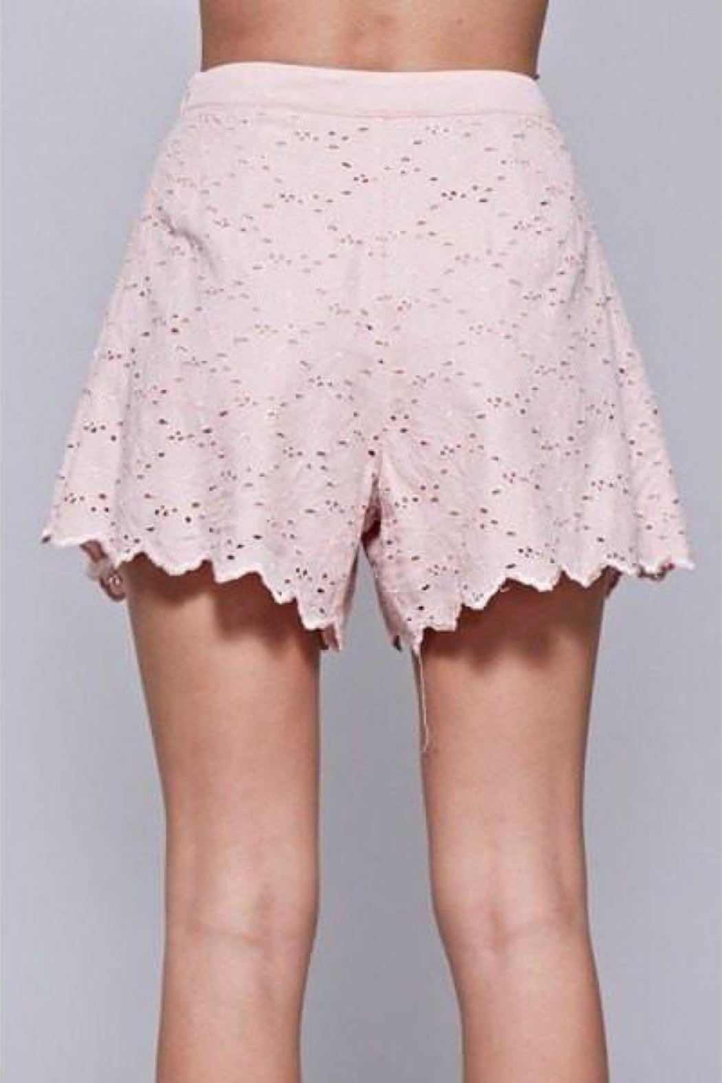 Do & Be Embroidered Lace Shorts - Back Cropped Image