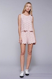 Do & Be Embroidered Lace Shorts - Front full body