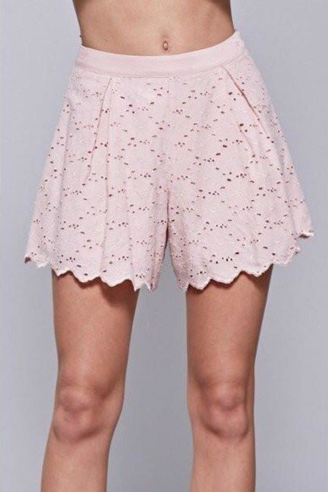 Do & Be Embroidered Lace Shorts - Main Image