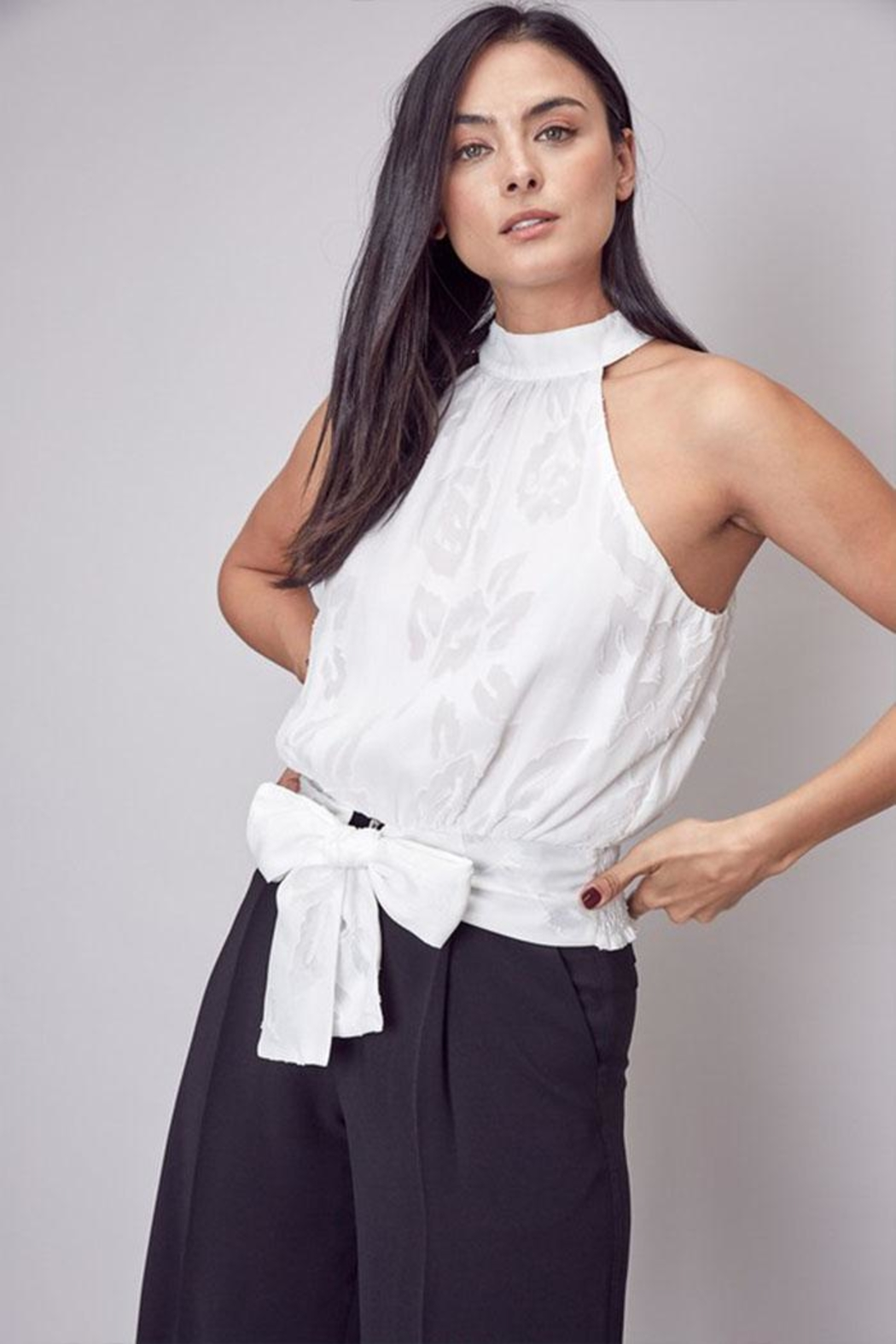 Do & Be Embroidered Mock-Neck Top - Main Image
