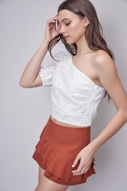 Do & Be Embroidered One-Shoulder Top - Front full body