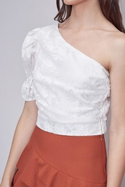 Do & Be Embroidered One-Shoulder Top - Back cropped