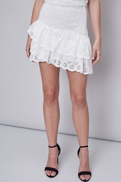 Shoptiques Product: Embroidered Ruffle Skirt