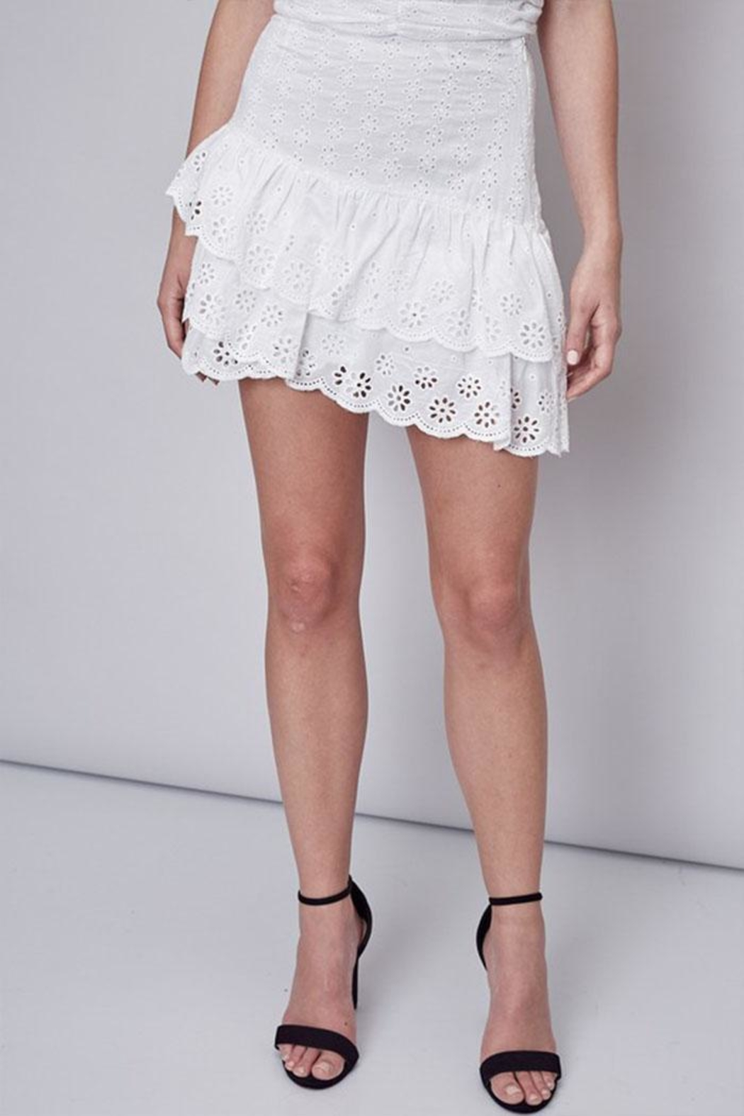 Do & Be Embroidered Ruffle Skirt - Main Image