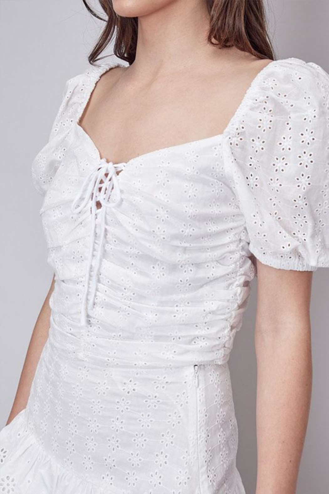 Do & Be Eyelet Crop Top - Back Cropped Image