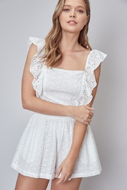 Do & Be Eyelet Ruffle Romper - Front cropped
