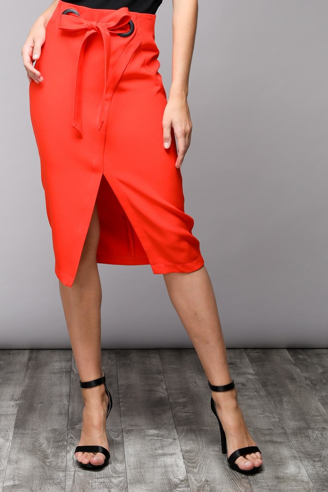 Do & Be Eyelet Wrap Skirt - Side Cropped Image