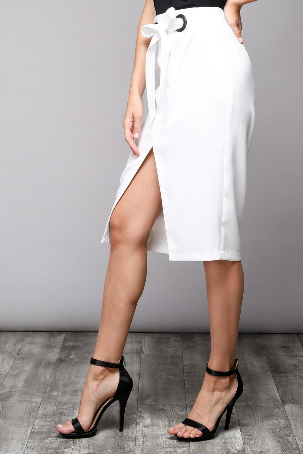 Do & Be Eyelet Wrap Skirt - Front Cropped Image