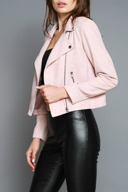Do & Be Faux Moto Jacket - Back cropped