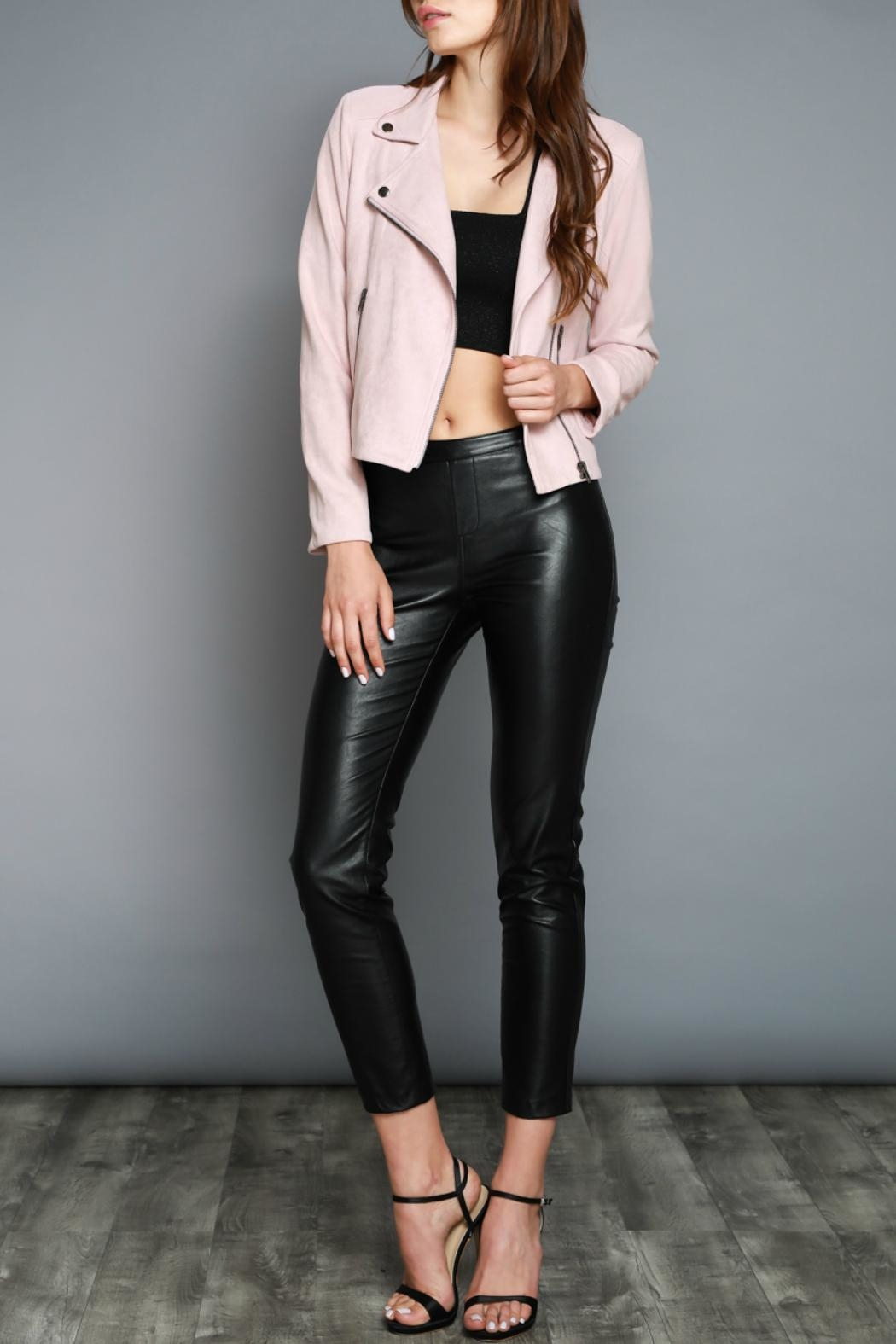Do & Be Faux Moto Jacket - Side Cropped Image