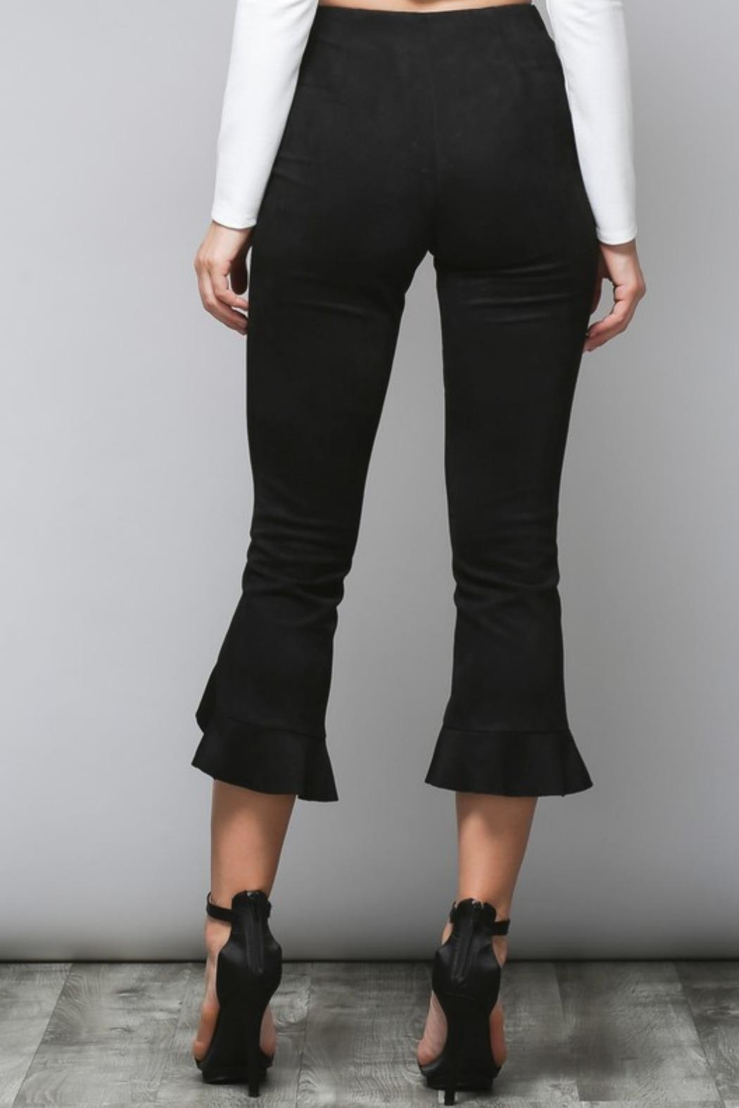 Do & Be Faux Suede Trousers - Side Cropped Image