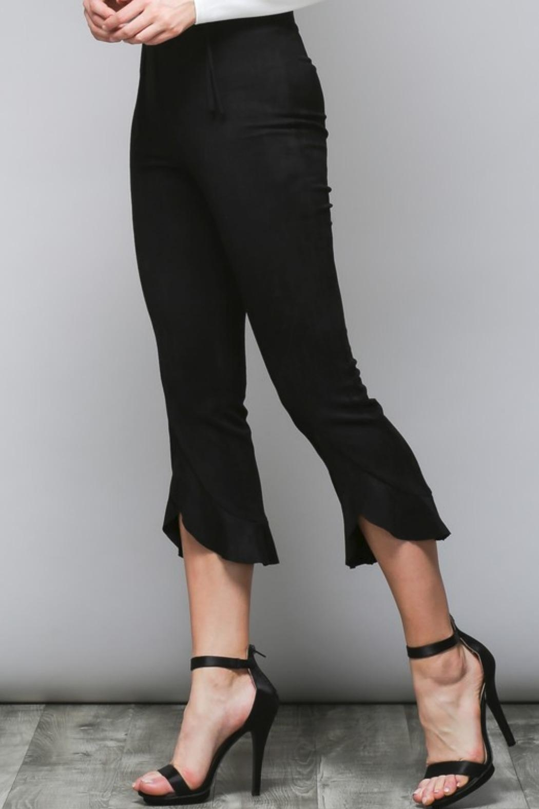 Do & Be Faux Suede Trousers - Front Full Image
