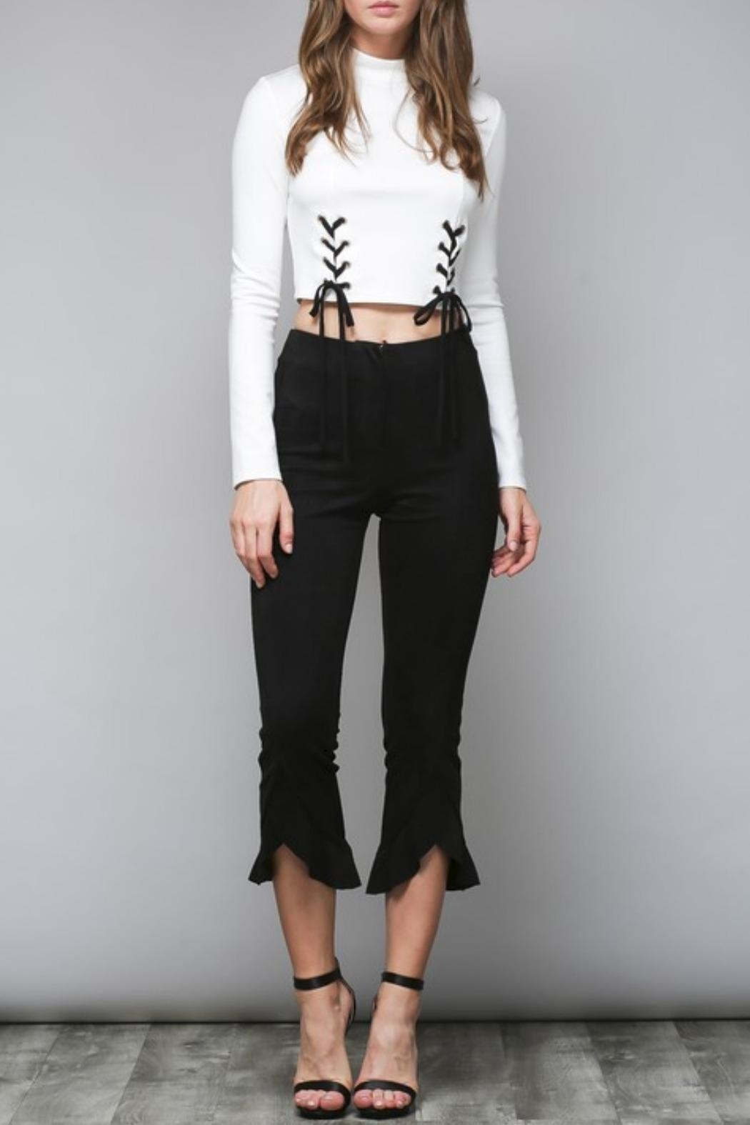 Do & Be Faux Suede Trousers - Main Image