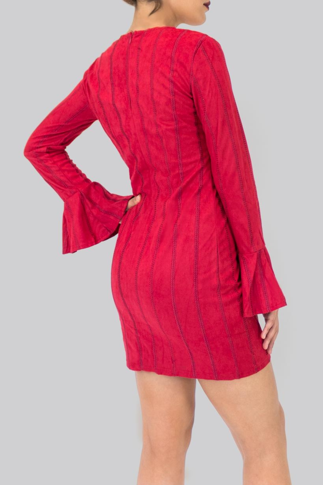 Do & Be Flared Sleeves Dress - Front Full Image