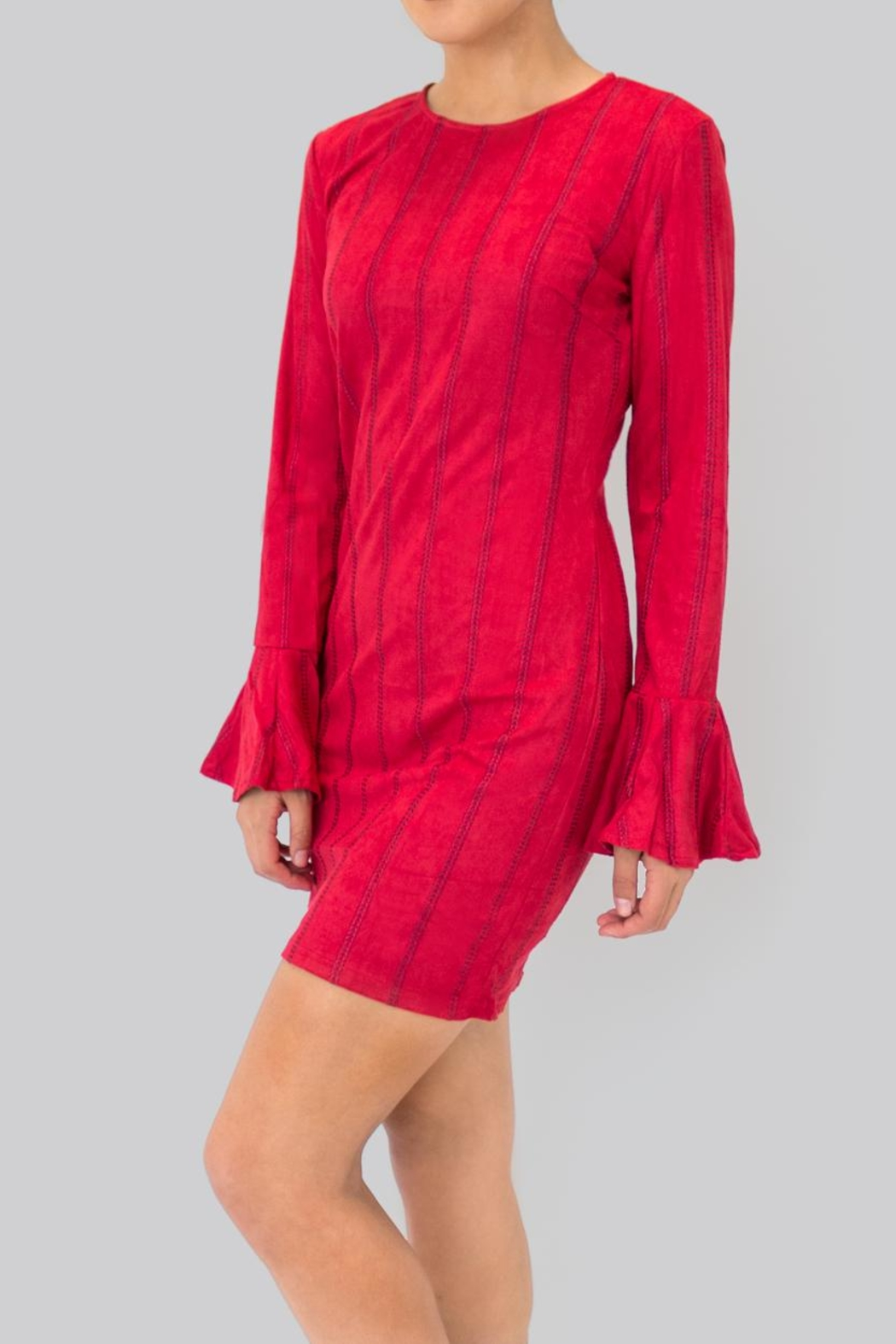 Do & Be Flared Sleeves Dress - Side Cropped Image