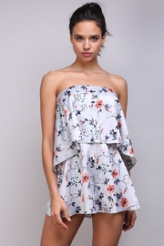 Do & Be Floral Ots Romper - Front cropped