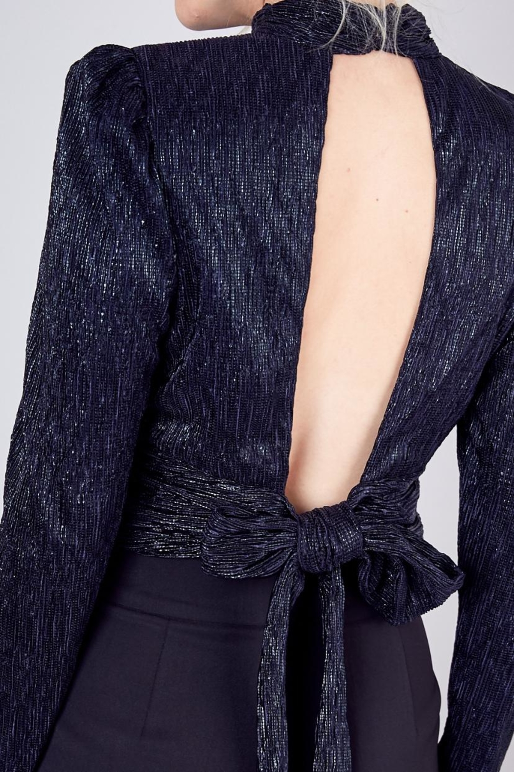 Do & Be Foil Cropped Top - Back Cropped Image