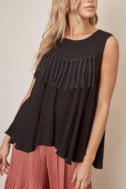 Mustard Seed Fringe Top - Front cropped