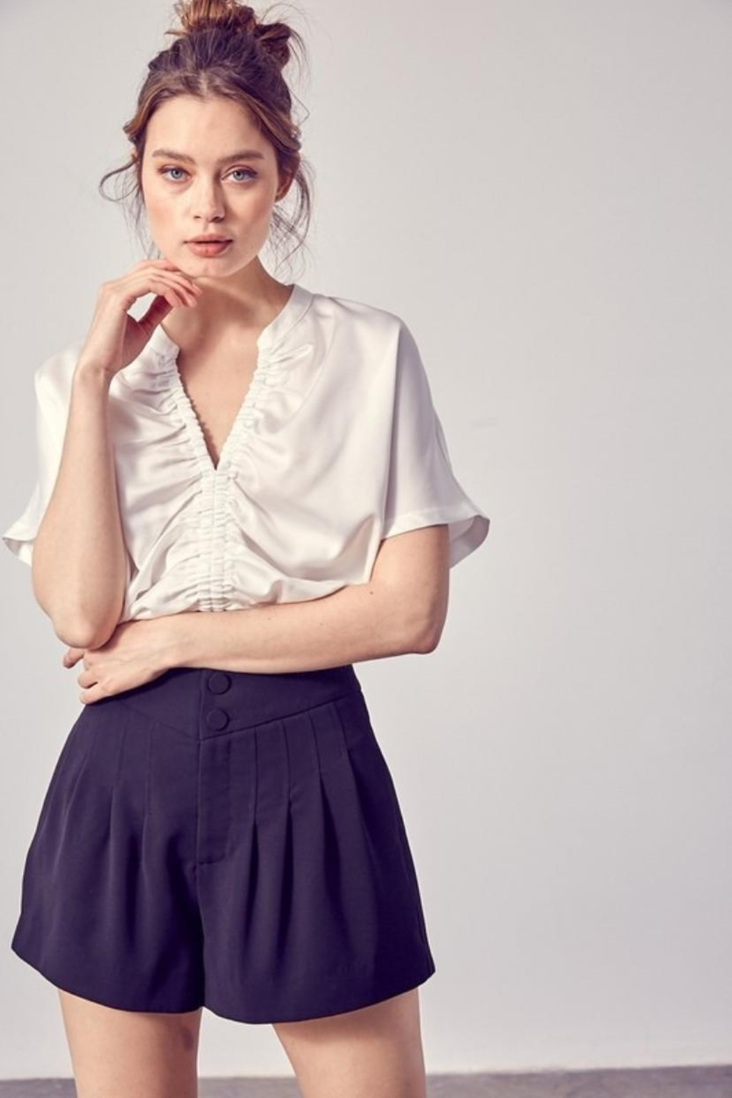 Do & Be Front Ruched Top - Main Image