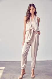 Do & Be Front Tie Jumpsuit - Front cropped