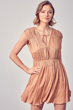 Do & Be Front Tie Ruched Dress - Product List Image