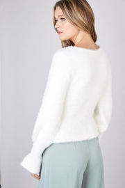 Do & Be Fuzzy Flared Sweater - Side cropped