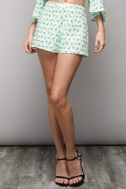 Do & Be Green Eyelet Shorts - Product Mini Image