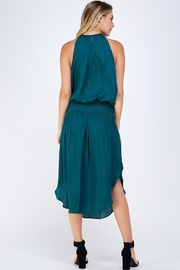 Do & Be Green Smocked Dress - Back cropped
