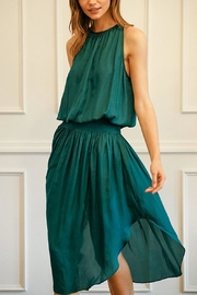 Do & Be Green Smocked-Waist Dress - Front cropped
