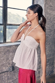 Do & Be Halter Backless Top - Front full body