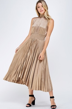 Do & Be High-Neck Pleated Dress - Product List Image