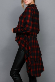 Do & Be Hi Low Checkered Shirt - Front full body