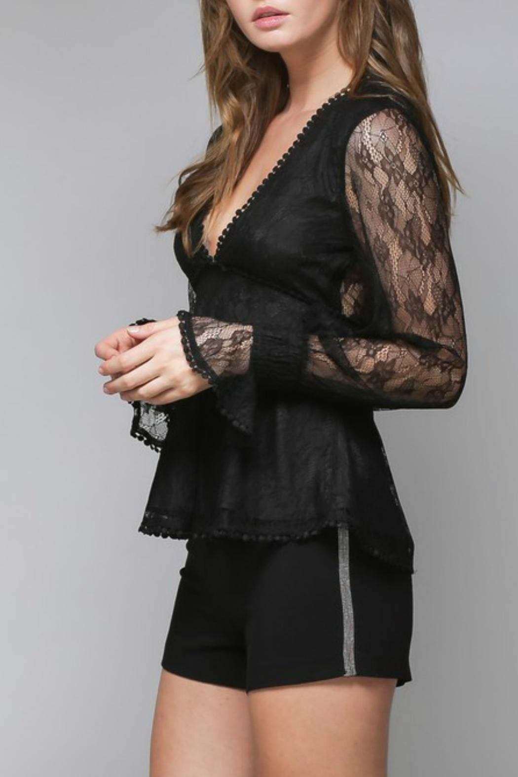 Do & Be Lace Peplum Blouse - Front Full Image