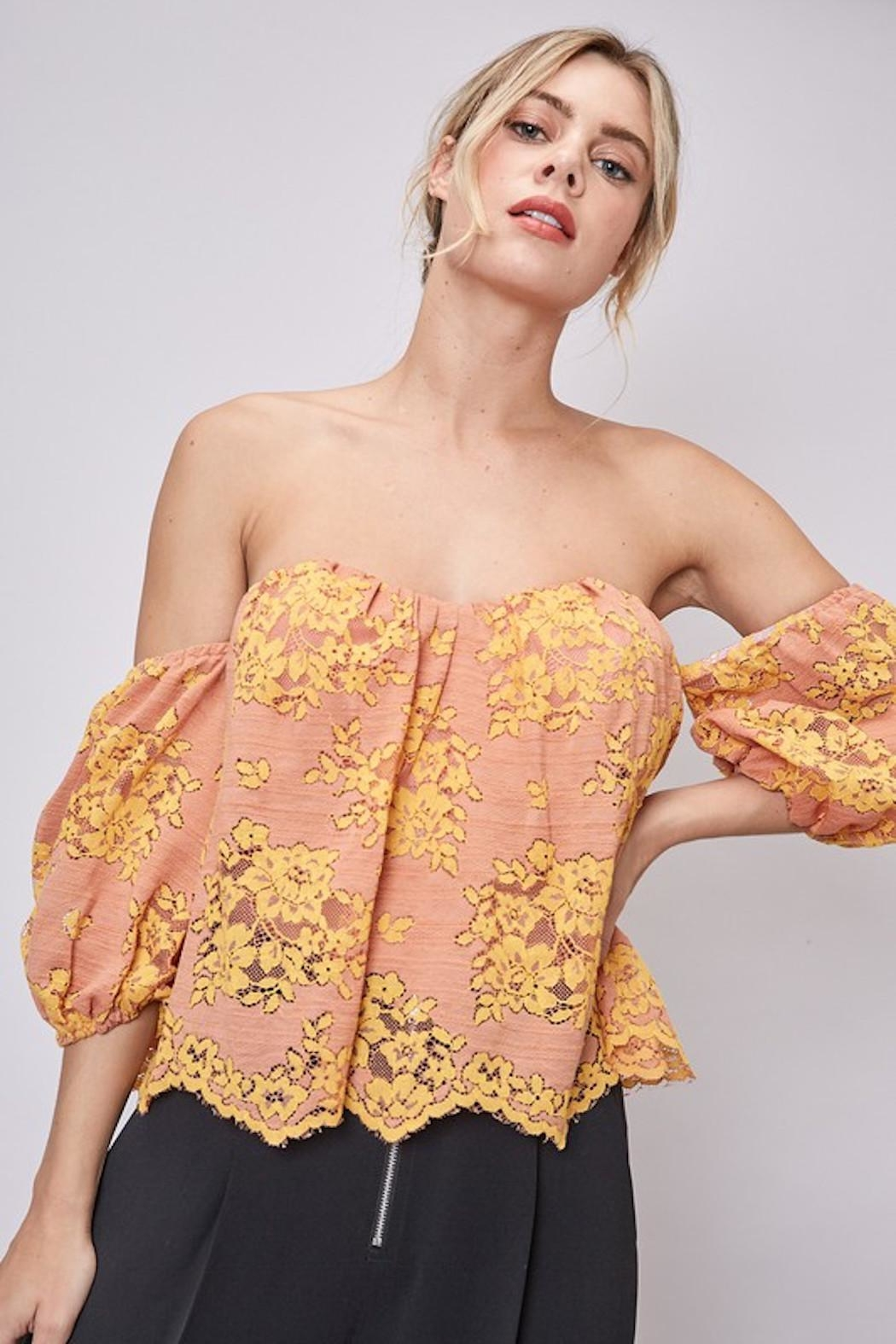 Do & Be Lace Strapless Top - Main Image