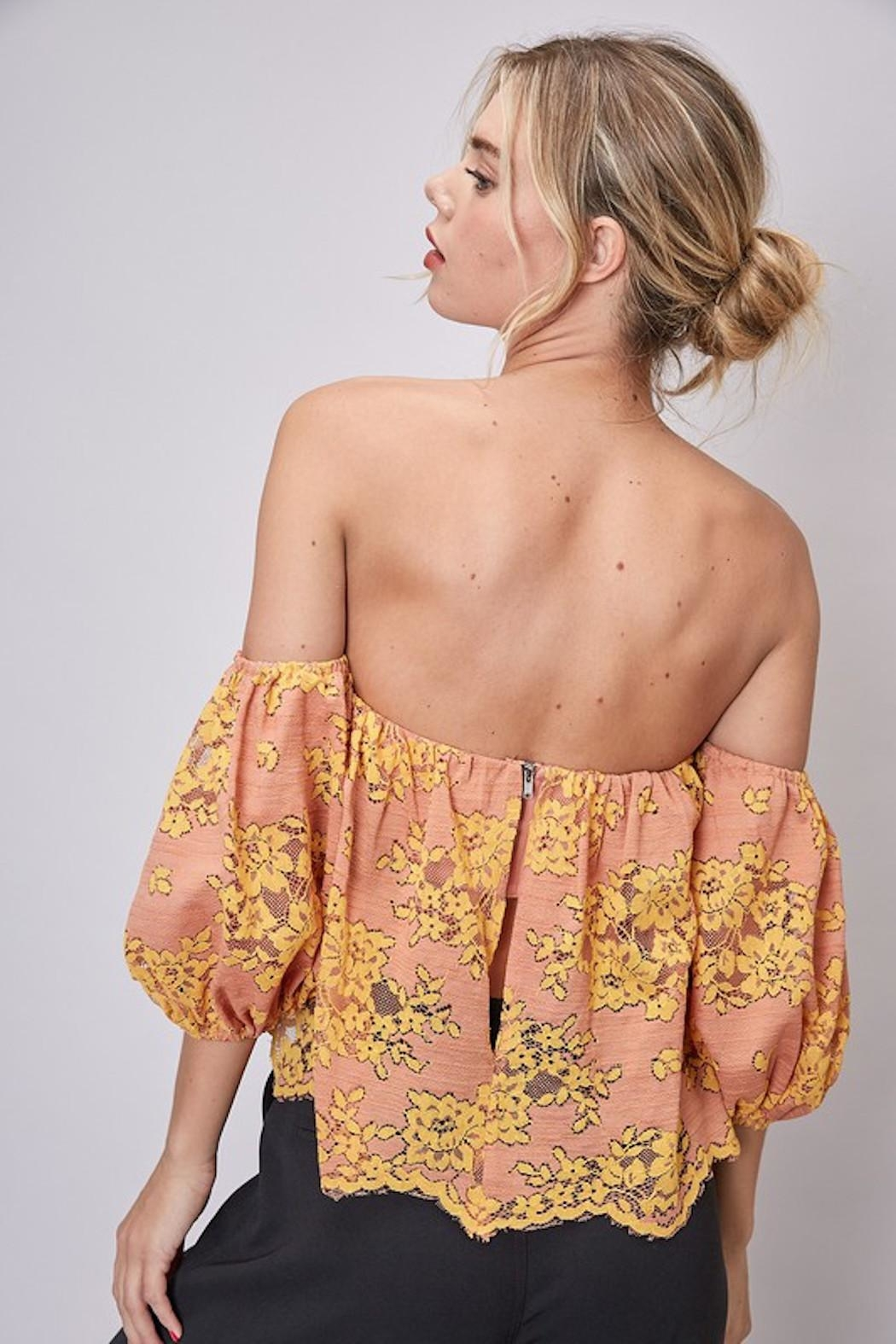 Do & Be Lace Strapless Top - Front Full Image