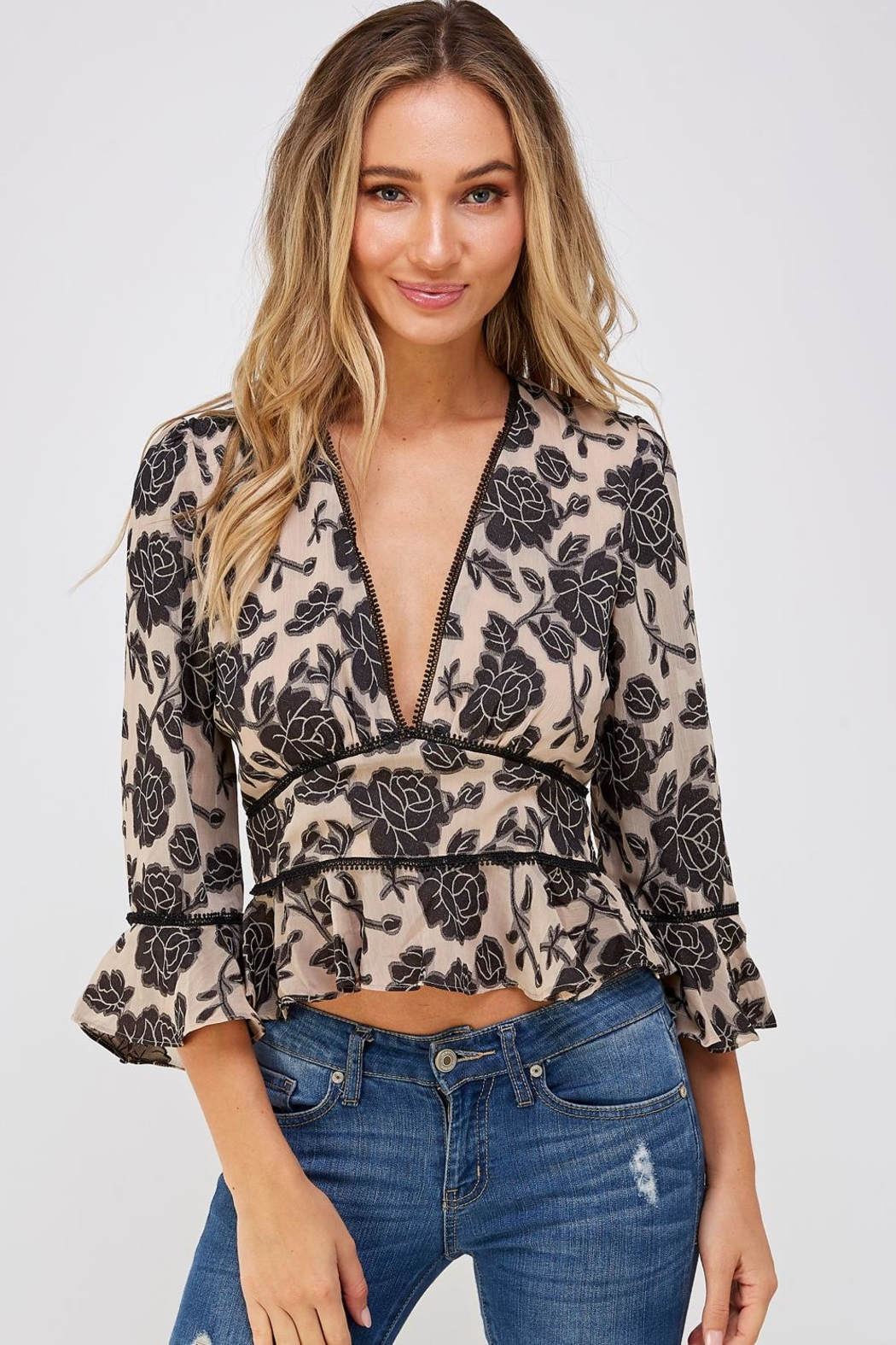 Do & Be Lace Trim Blouse - Main Image