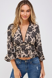 Do & Be Lace Trim Blouse - Product Mini Image