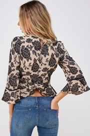 Do & Be Lace Trim Blouse - Back cropped