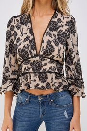 Do & Be Lace Trim Blouse - Side cropped