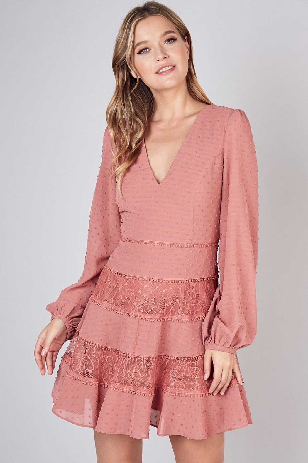 Do & Be Lace Trim Detailed Dress - Main Image