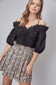 Do & Be Lace Up Crochet Top - Front cropped