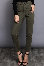 Do & Be Lace Up Pants - Front cropped
