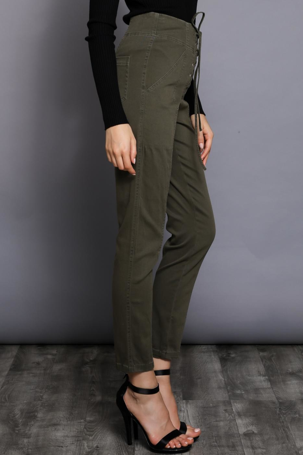 Do & Be Lace Up Pants - Front Full Image