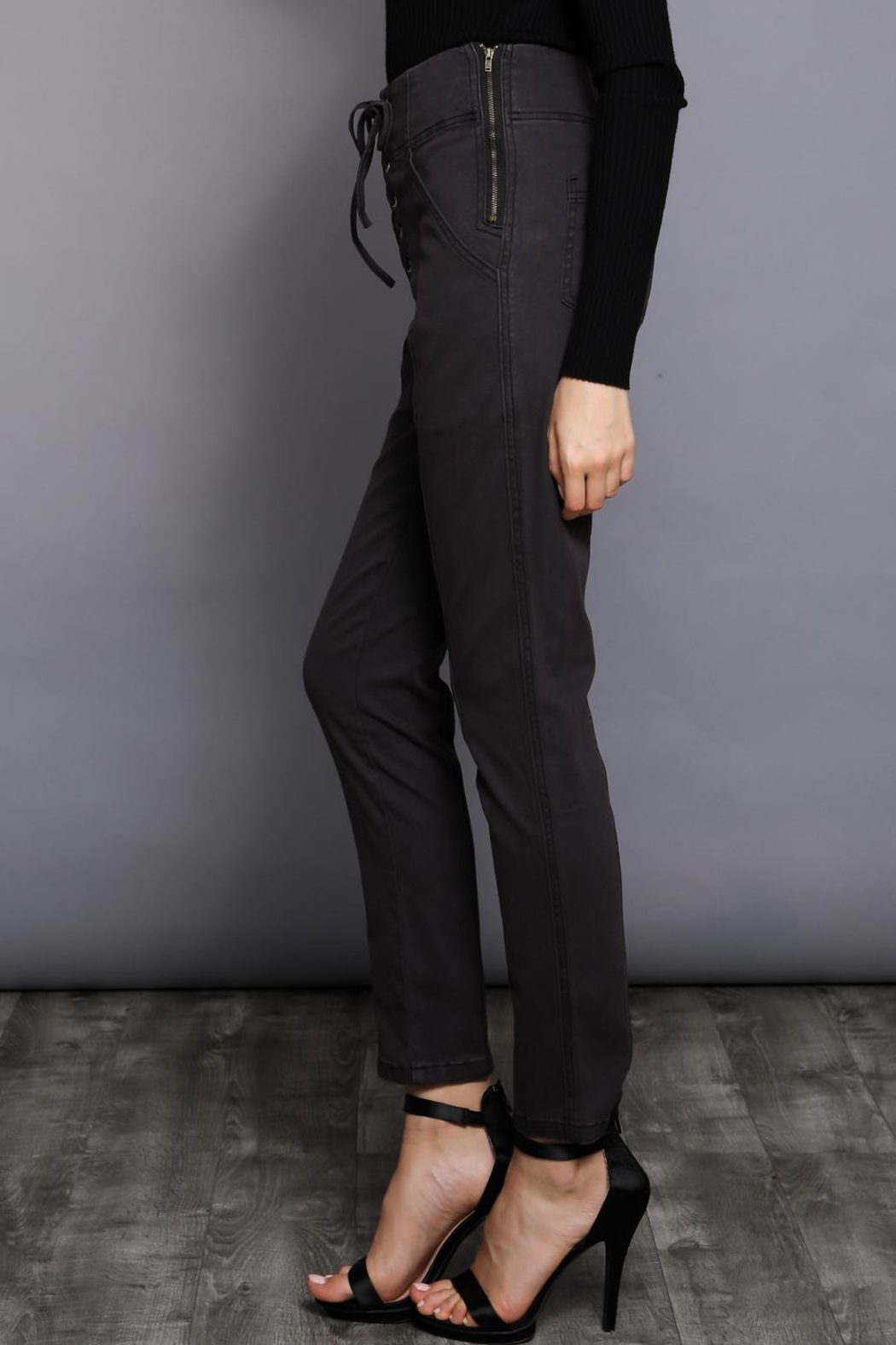 Do & Be Lace Up Pants - Side Cropped Image