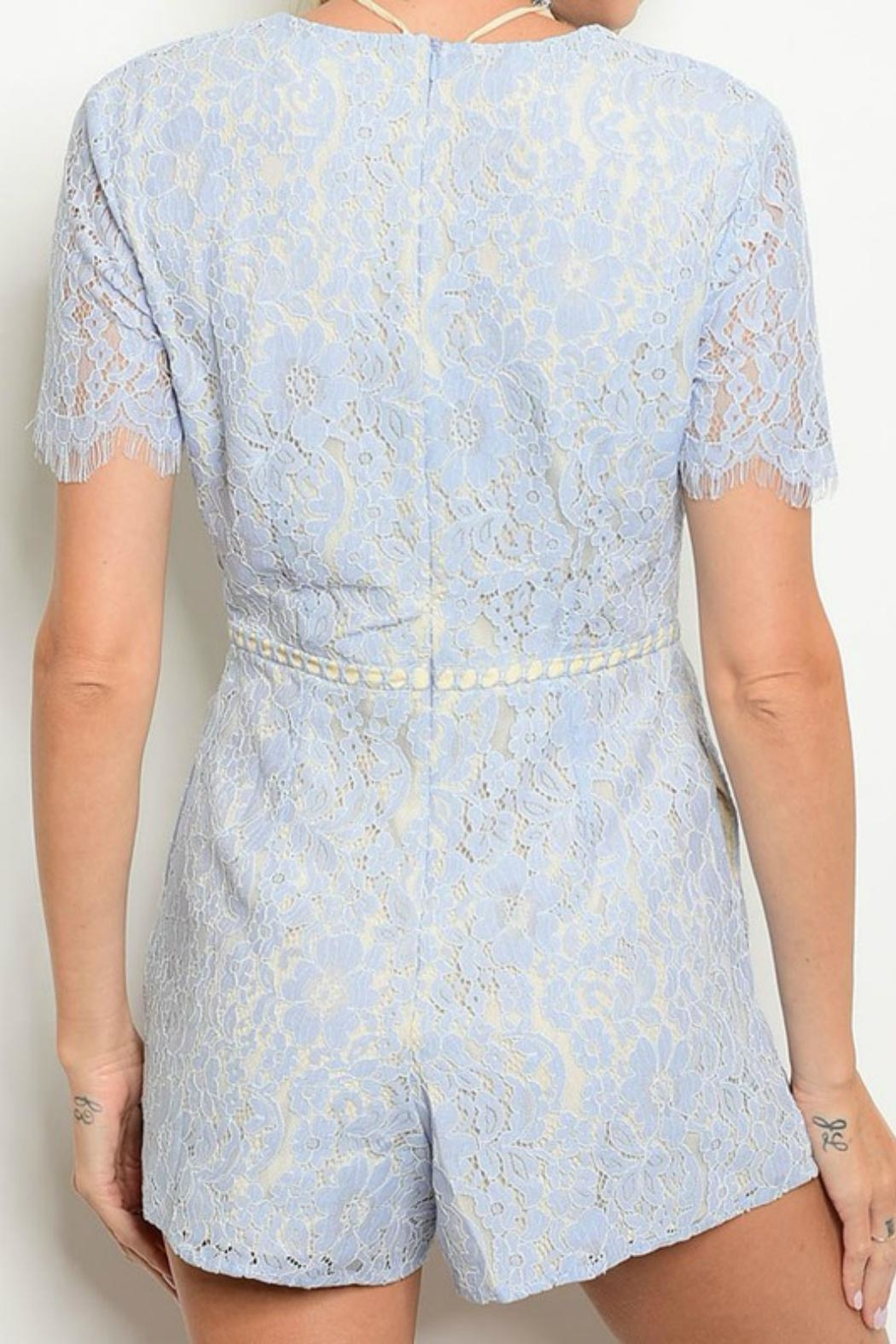 Do & Be Lace Up Romper - Front Full Image